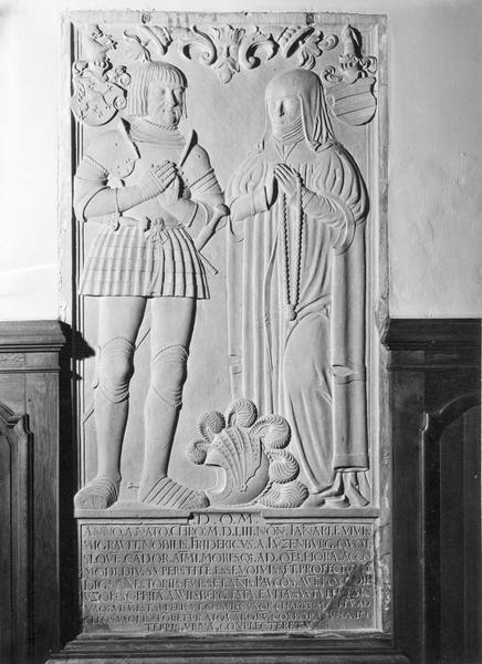 dalle funéraire de Frédéric de Lutzelbourg et de Sophie de Willsperg