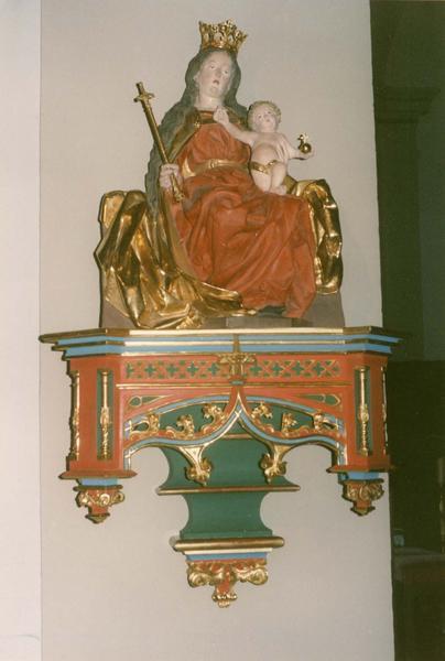 Statue : Vierge à l'Enfant assise dite Notre-Dame de la joie