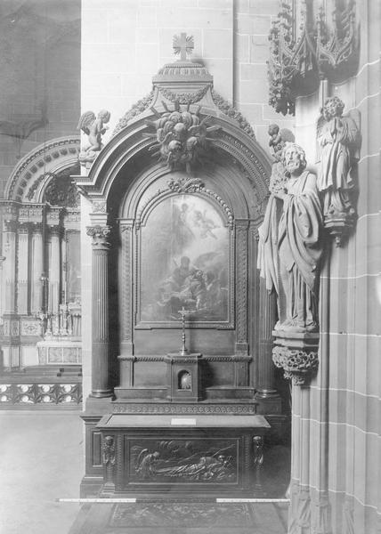 autel, retable, tableau : la mort de saint Jean Népomucène, de saint Jean Népomucène (dessin)