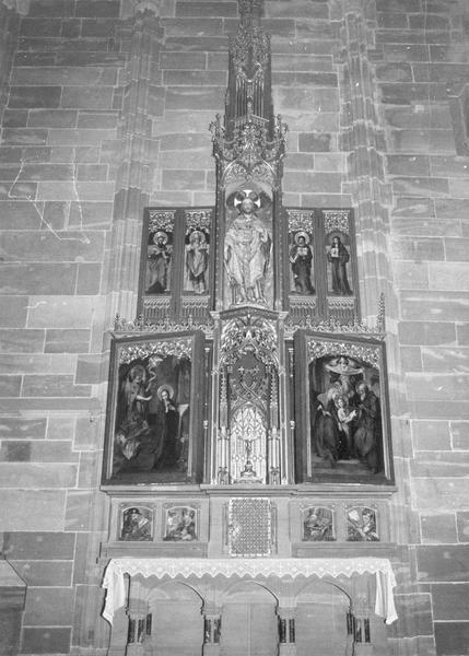 Autel, retable, du saint Sauveur