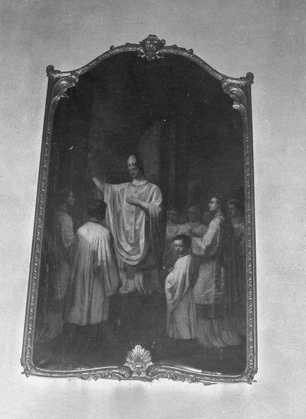 Tableau : la consécration de la collégiale Saint-Pierre le Jeune par le pape Léon IX
