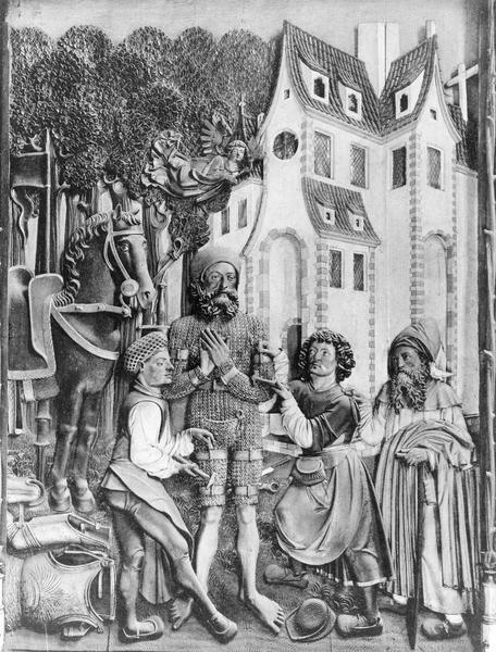 relief : la conversion de saint Guillaume d'Aquitaine