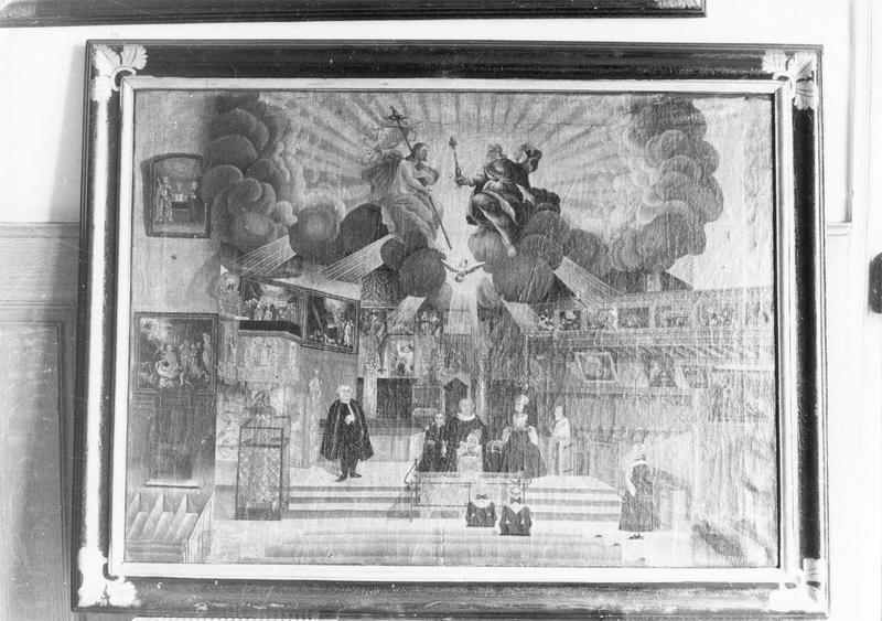 tableau, cadre : l' intérieur de l' église Saint-Guillaume