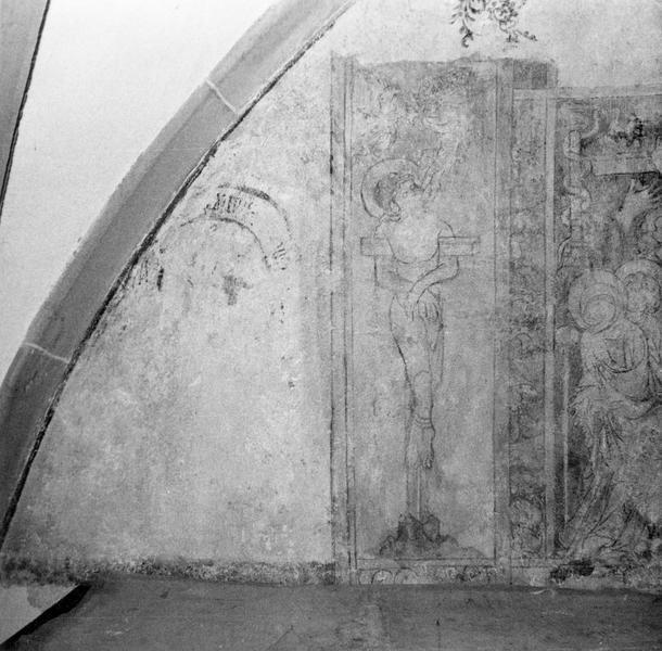 peinture monumentale : scènes de la Passion, Jugement dernier, saints thaumaturges, Vie de la Vierge, ancien testament