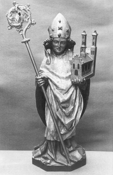 statue : saint Wolfgang de Ratisbonne