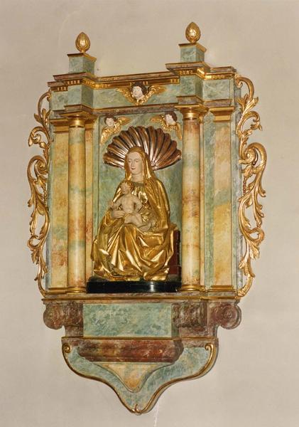 statue et sa niche : Vierge à l'Enfant