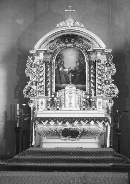 autel, tabernacle, retable (maître-autel, autel tombeau, retable architecturé)