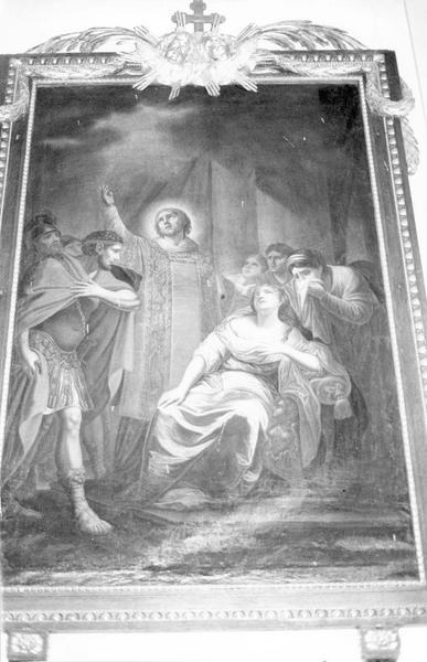 tableau, cadre : épisode de la vie de saint Etienne