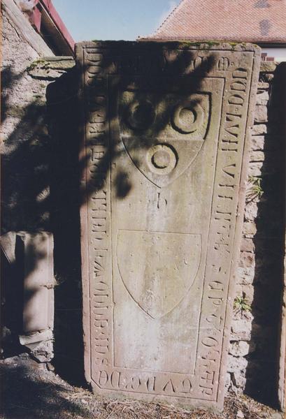 Dalle funéraire de Hartung de Schoenowwe, cellerier