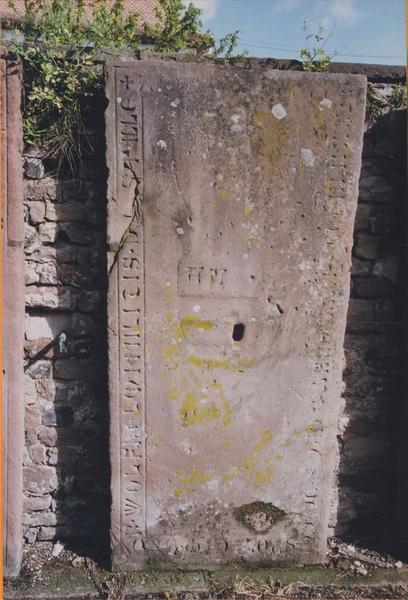Dalle funéraire d'Agnès de Geispolsheim épouse de Wolfhelm von Stille