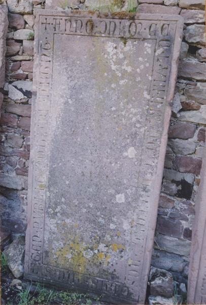 Dalle funéraire de Nicolaus Grass de Sulgen, notaire public à Strasbourg