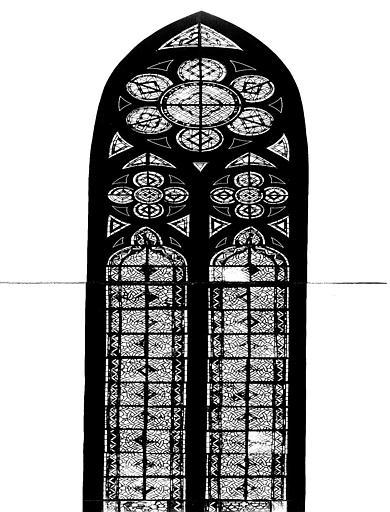 Verrières de la nef : saint Louis en pied