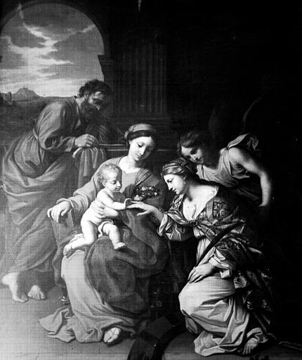Tableau : le Mariage mystique de sainte Catherine