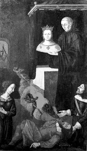 Tableau : le Miracle de sainte Casarie