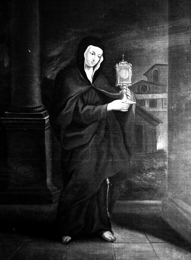 Tableau : la marquise de Ganges dans le costume de chartreusine de sainte Roseline de Villeneuve