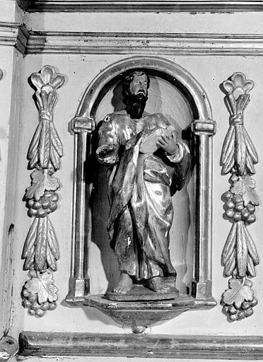 Autel en bois de saint Jean-Baptiste, détail