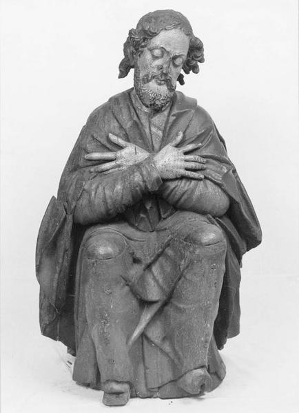 statue : saint Jacques au mont des Oliviers, vue générale
