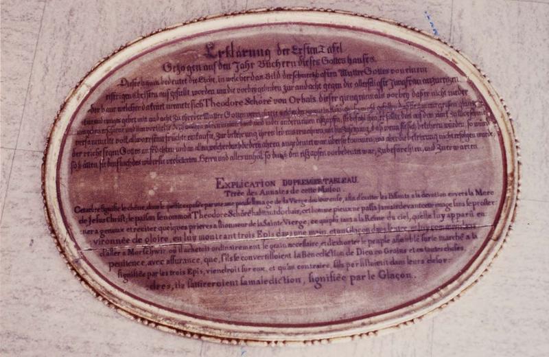 médaillon du 1er tableau, vue générale