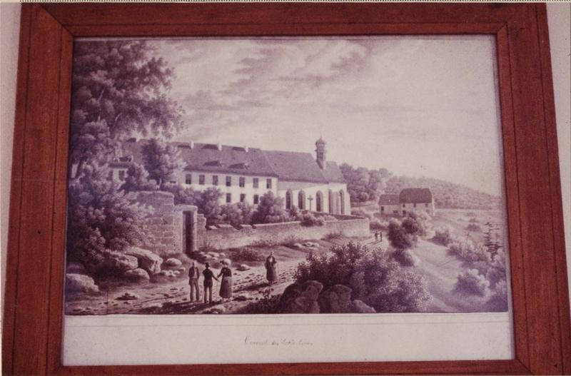 dessin : le couvent des trois épis, vue générale