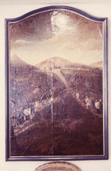 tableau : les premiers pèlerinages montent aux trois épis, vue générale