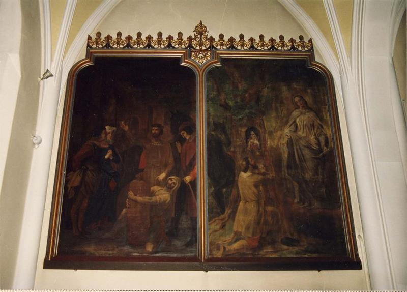 tableau, cadre (diptyque) : le miracle de Niedermerscwihr, vue générale