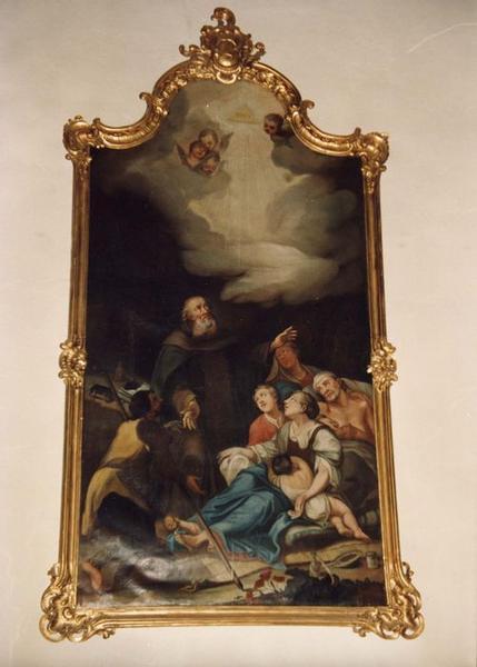 tableau, cadre : saint Antoine ermite, vue générale