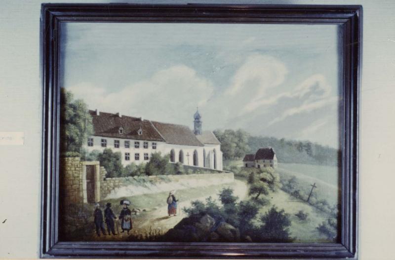 tableau : vue du couvent, vue générale