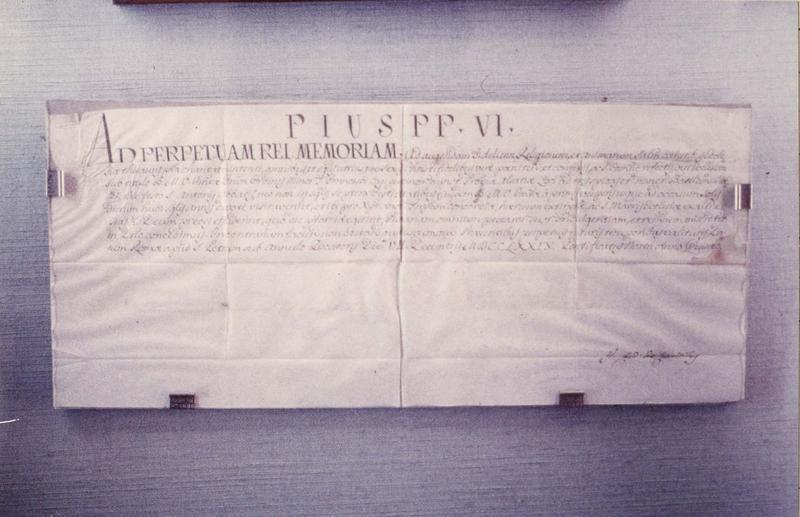 manuscrit : autorisation d'installation accordée aux capucins, vue générale