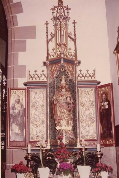 Autel retable du Sacré-Coeur, statue