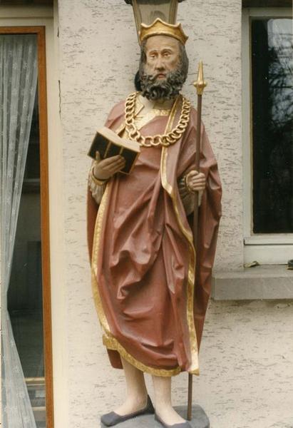 Sculpture : saint Oswald (?), vue générale