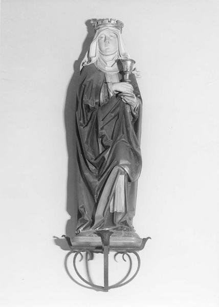 statue : sainte Barbe, vue générale