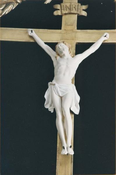tableau : Christ du Conseil Souverain d'Alsace, vue partielle