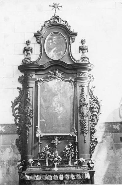 retable latéral, tableau : éducation de la Vierge (l'), vue générale