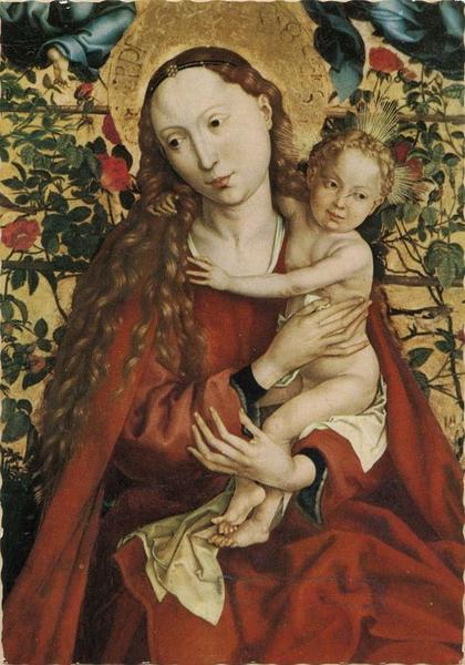 tableau : la Vierge au buisson de roses, vue générale