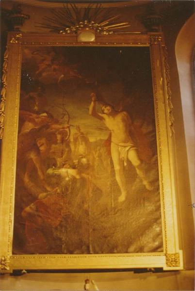 tableau, cadre : saint Sébastien, vue générale