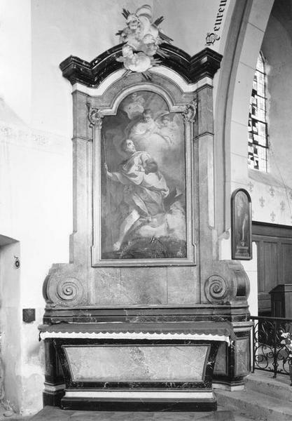 autel, retable, tableau : saint Roch, vue générale