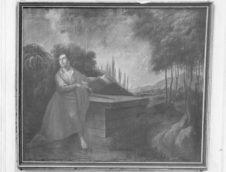 tableau : Onction de la pierre par Jacob, vue générale