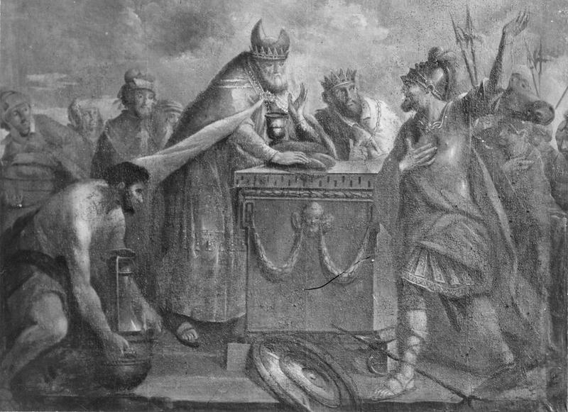 tableau : la rencontre d' Abraham et de Melchisédech, vue générale