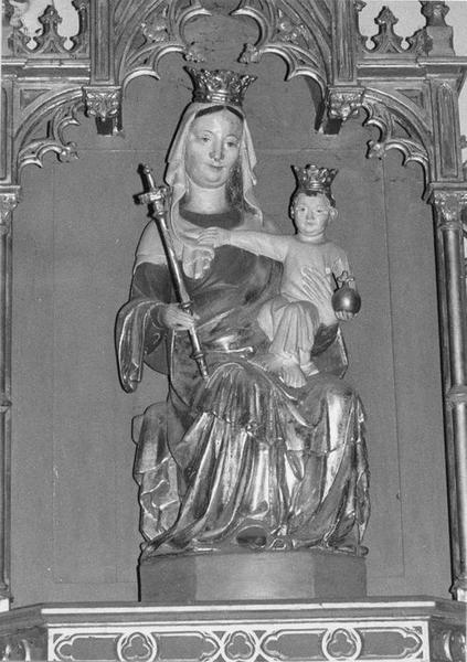 statue : Vierge à l'Enfant en majesté, vue générale