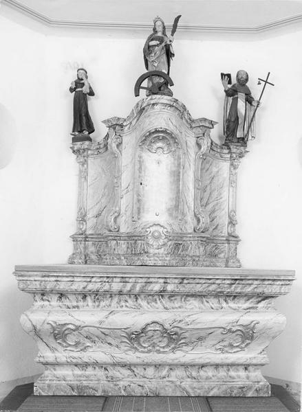 autel, retable, vue générale