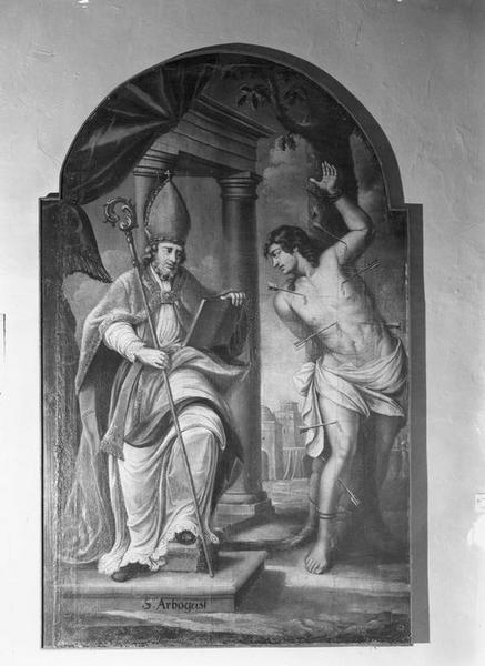 tableau : saint Arbogast et saint Sébastien, vue générale