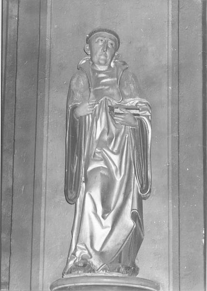 statue : saint Benoît de Nursie (?), vue générale