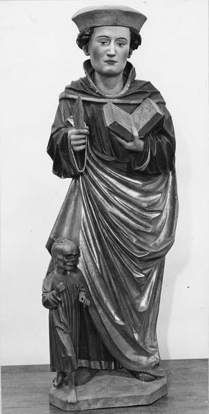 statue : saint Fridolin, vue générale
