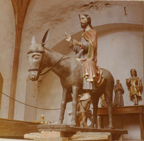 Groupe sculpté : Christ des rameaux, vue générale