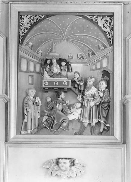 bas-relief : la mort de saint Alexis, vue générale