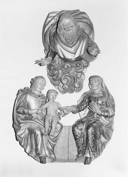 groupe sculpté : la Sainte Parenté, vue générale