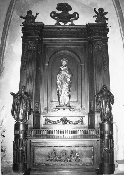autel, retable, statues (3) : saint Joseph, sainte Catherine de Sienne, sainte Odile, de saint Joseph, vue générale