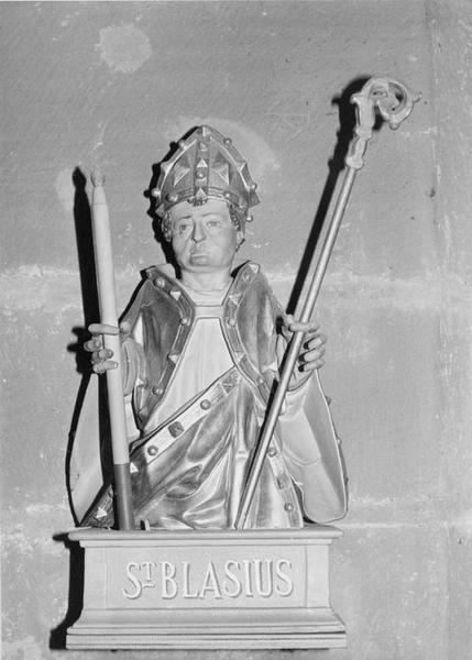 buste : saint Blaise, vue générale