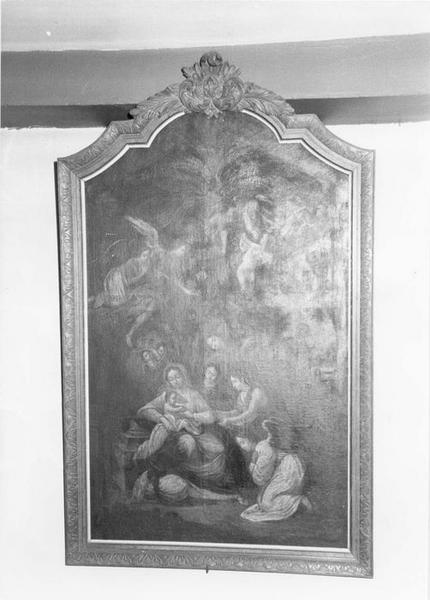 tableau, cadre : la Sainte Famille, vue générale