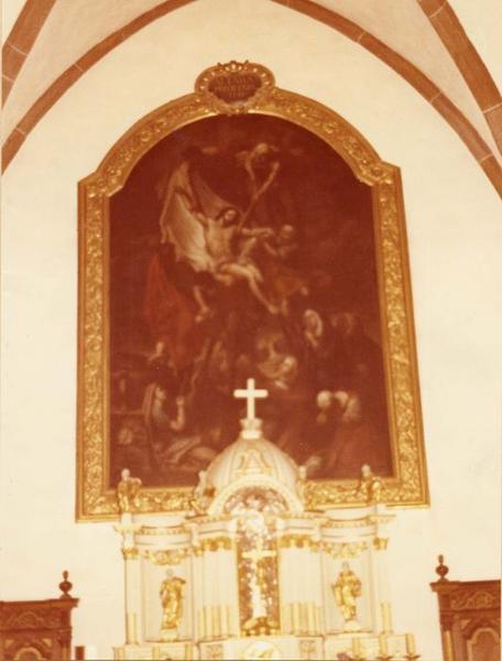 tableau, cadre : la Descente de Croix, vue générale